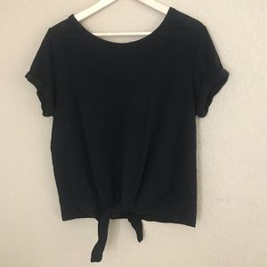 so relaxed knot tie black top